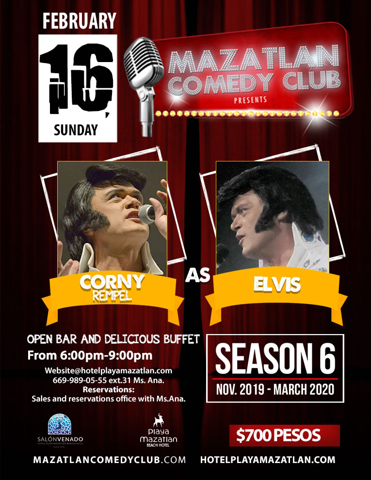 Comedy Club Season 6 with Corny Rempel as Elvis