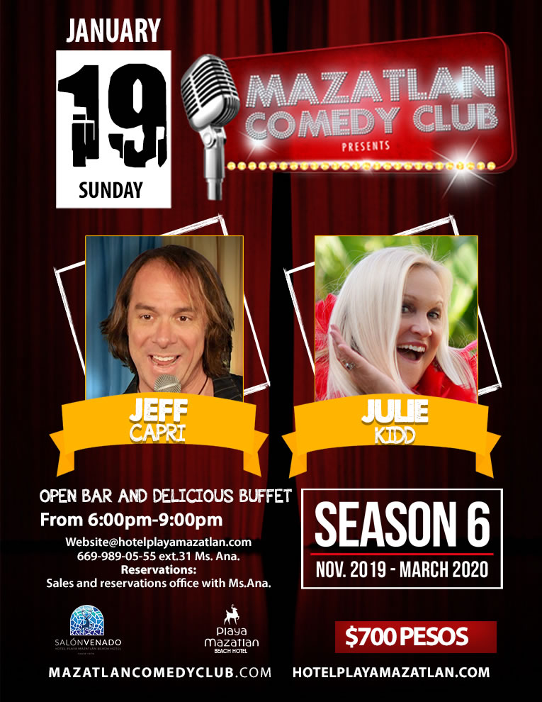 Mazatlan Comedy Club by Jeff Capri and Julie Kidd