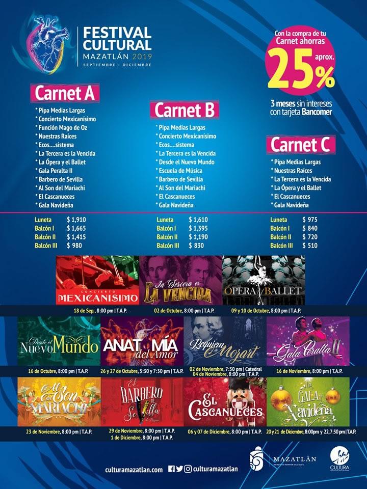 Mazatlan Cultural Festival 2019 Carnet