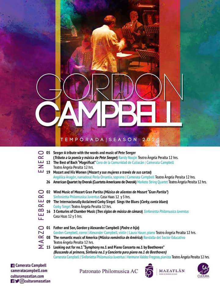 Novena Temporada Camerata Gordon Campbell 2020