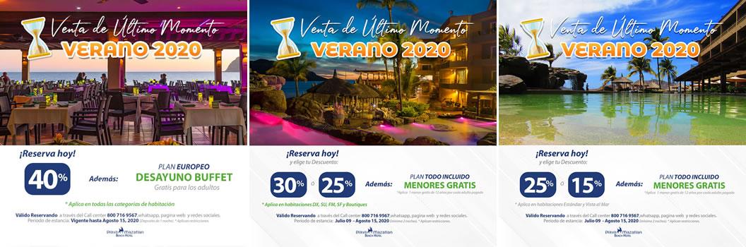 Promociones de Verano 2020 Hotel Playa Mazatlán