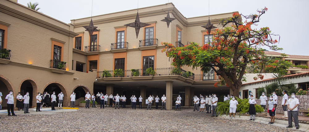This was the reopening of Hotel Playa Mazatlan after several months in pause