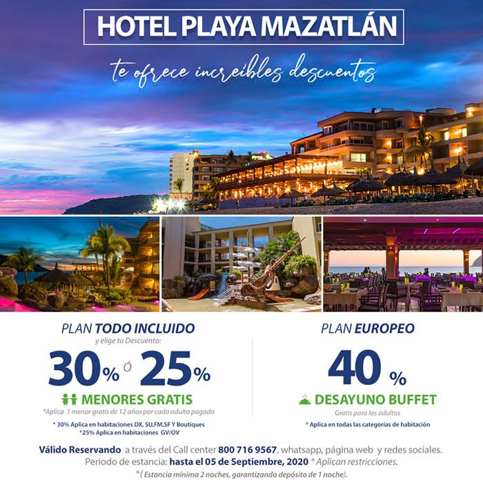 Reserva con los increíbles descuentos de Hotel Playa Mazatlán