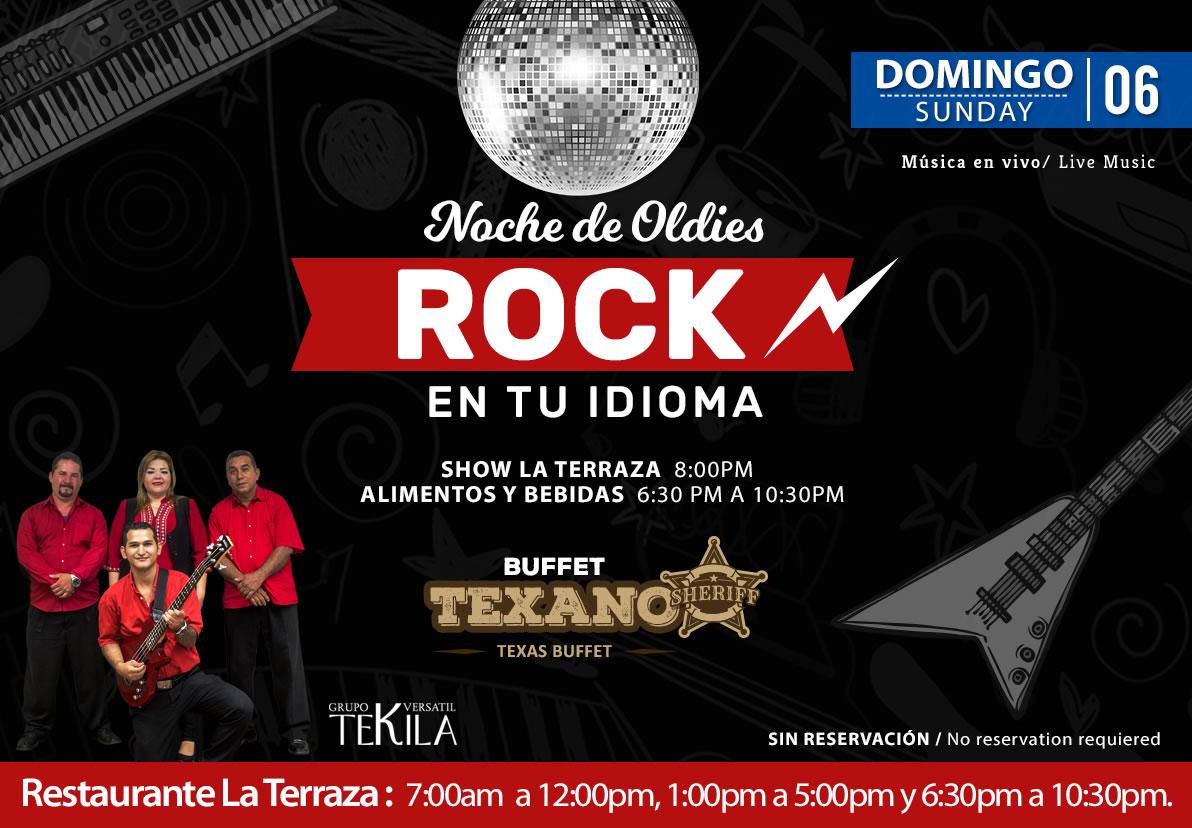 Dance Night Rock Music at La Terraza Restaurant Sunday 6 September 2020