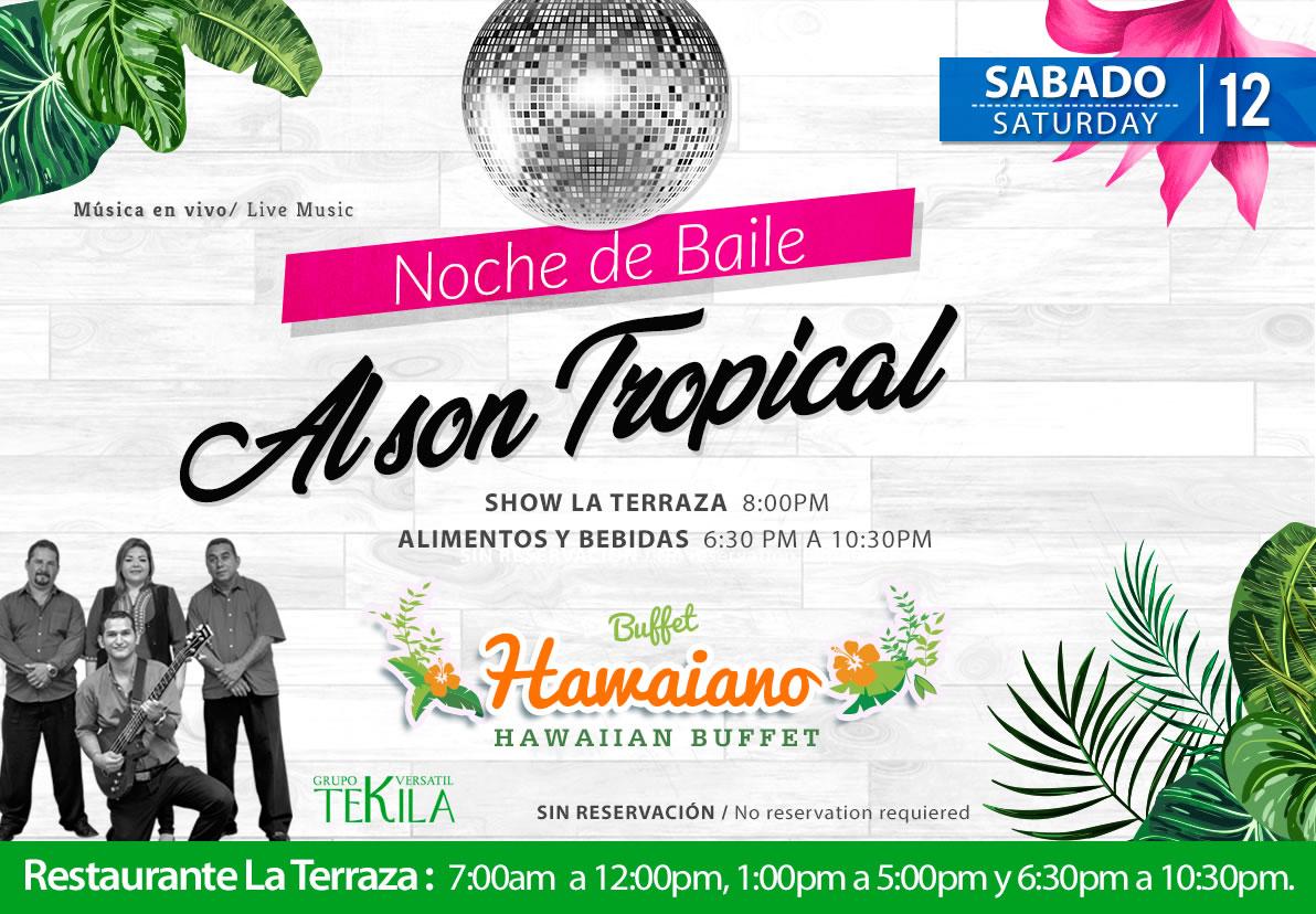 Dance Night Tropical Music at La Terraza Restaurant Saturday 12 September 2020