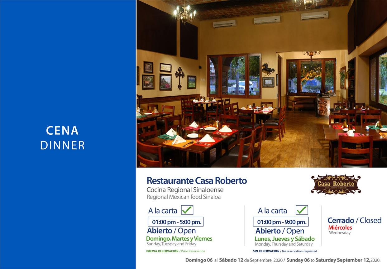 Dinner Casa Roberto 6-12 September 2020