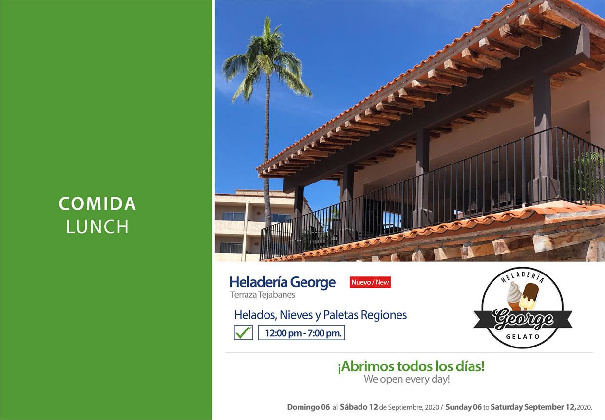 Gelato George at Terraza Tejabanes 6-12 September 2020