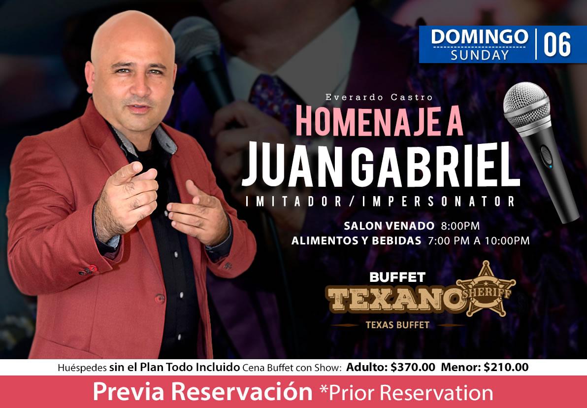 Impersonator Juan Gabriel at Salon Venado Sunday 6 September 2020