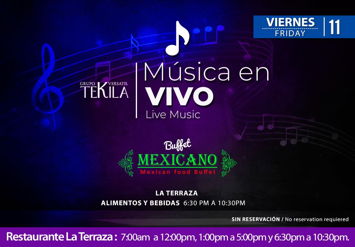 Live Music at La Terraza Restaurant Friday 11 September 2020