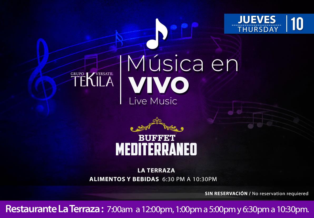 Live Music at La Terraza Restaurant Thursday 10 September 2020