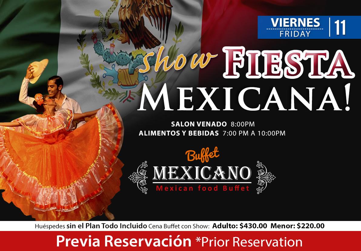 Mexican Fiesta Show at Salon Venado Friday 11 September 2020