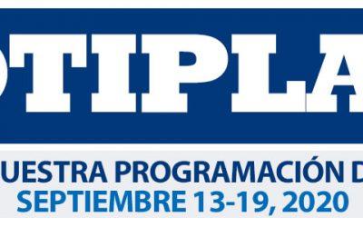 Consulta nuestra programación de Servicios Septiembre 13-19, 2020