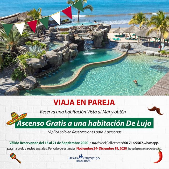 Obtén Ascenso Gratis Habitación De Lujo Hotel Playa Mazatlán