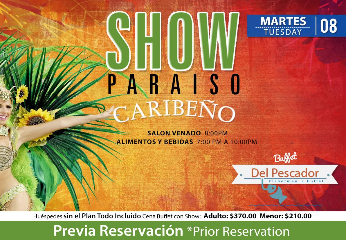 Show Paraiso at Salon Venado Tuesday 8 September 2020