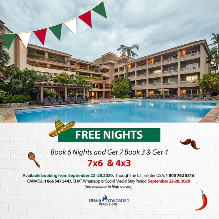Free Nights Hotel Playa Mazatlan