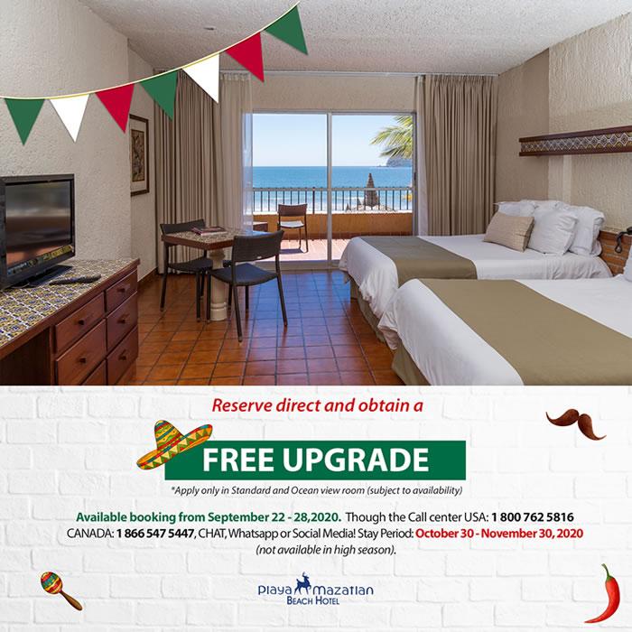 Free Room Upgrade Hotel Playa Mazatlan