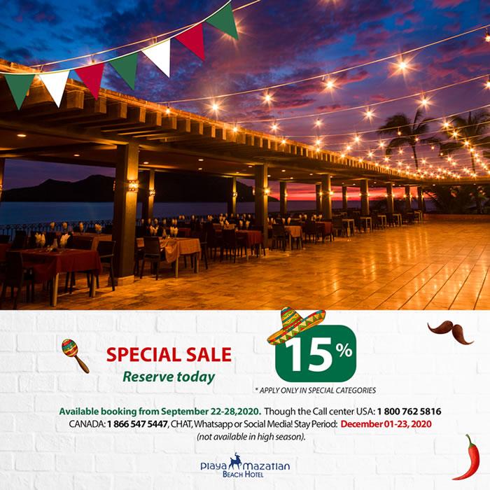 Get 15 Discount Playa Mazatlan