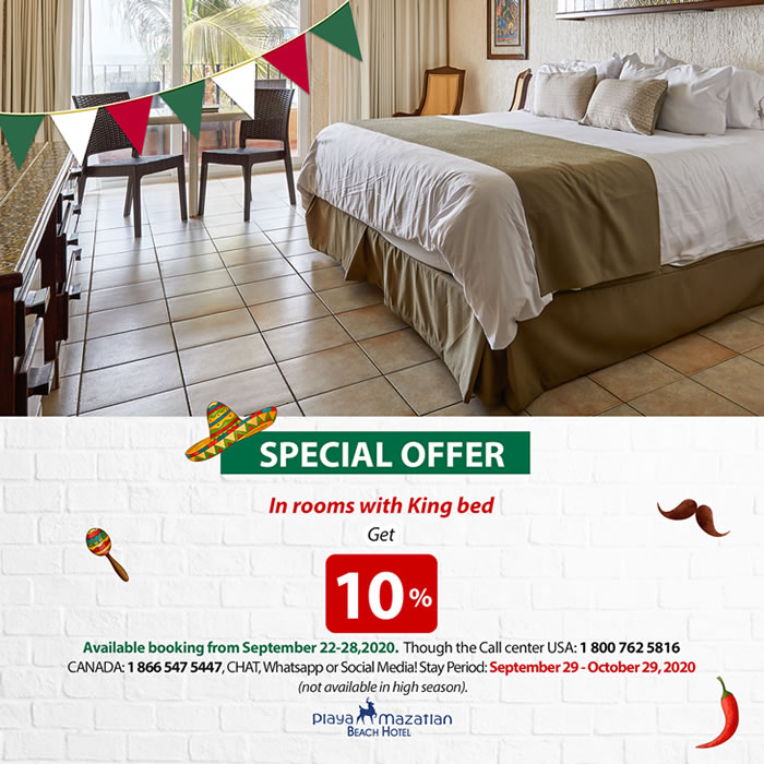 Special Offer in King Bed Hotel Playa Mazatlan