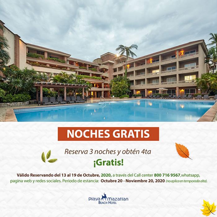 Aprovecha Noches Gratis en Hotel Playa Mazatlán