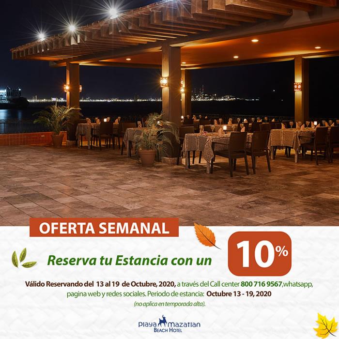 Reserva directo y Obtén 10 de Descuento Hotel Playa Mazatlán