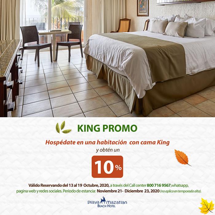 Descuento Especial en habitaciones con cama King
