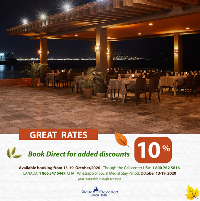 Great Rates Book direct and get 10 Off Hotel Playa Mazatlan