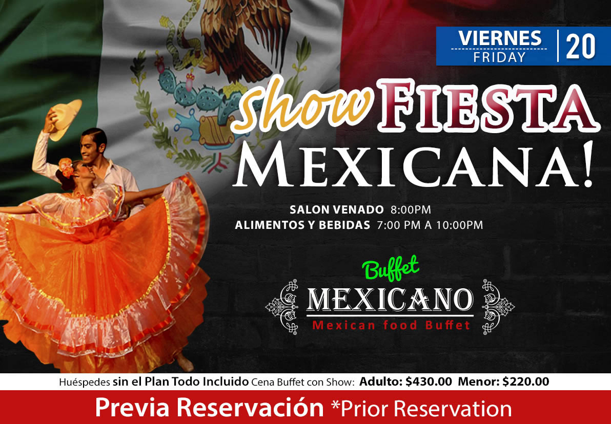 Fiesta Mexicana at salon Venado Friday 20 November 2020