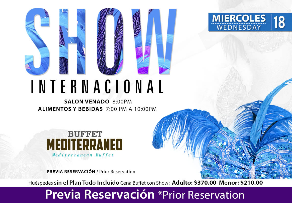 International show at salon Venado Wednesday 18 November 2020