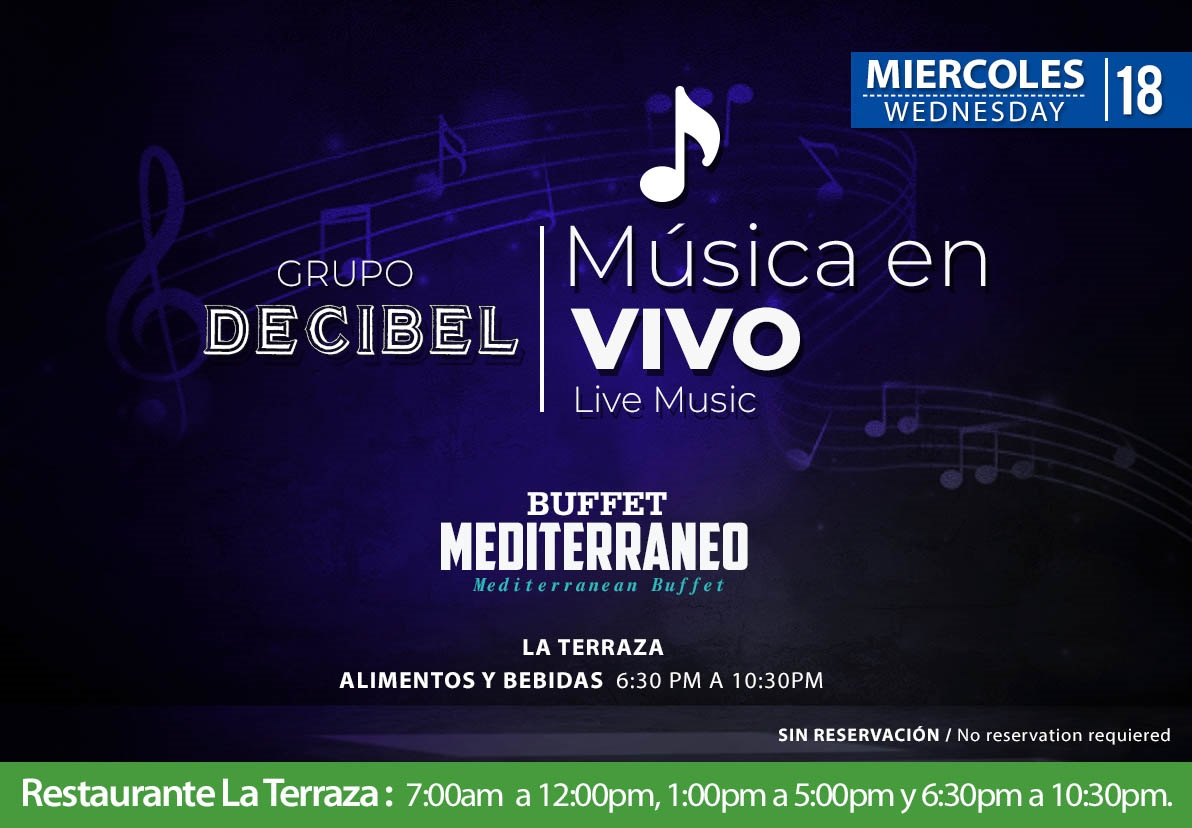Live music at La Terraza Wednesday 18 November 2020