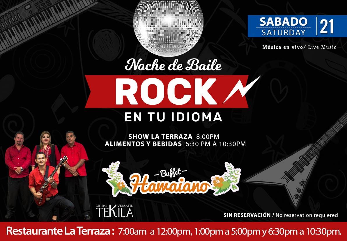 Noche de Rock en Restaurante La Terraza sábado 21 de Noviembre 2020