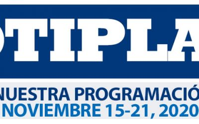 Consulta nuestra Programación Semanal Noviembre 15-21 2020
