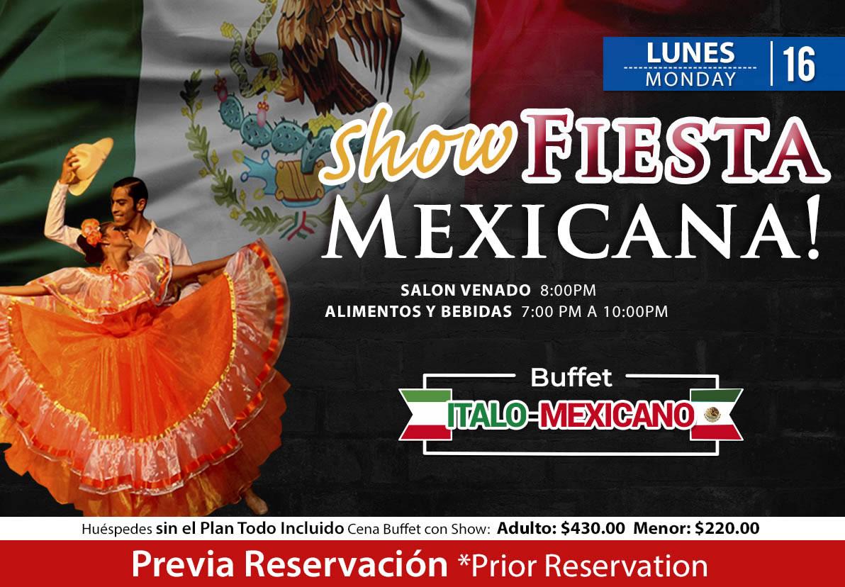 Show Fiesta Mexicana salón Venado Lunes 16 de Noviembre 2020