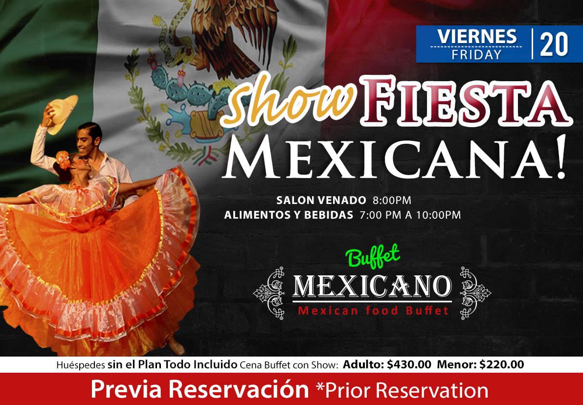 Show Fiesta Mexicana salón Venado Viernes 20 de Noviembre 2020