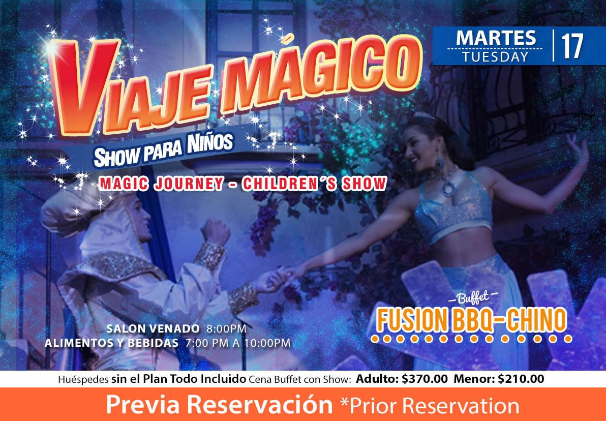 Show Viaje Mágico salón Venado Martes 17 de Noviembre 2020