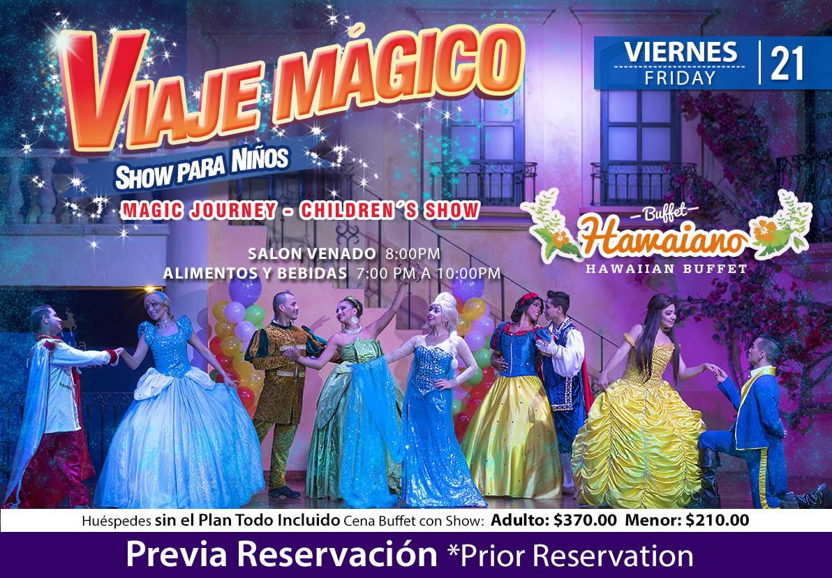 Show Viaje Mágico salón Venado Viernes 20 de Noviembre 2020