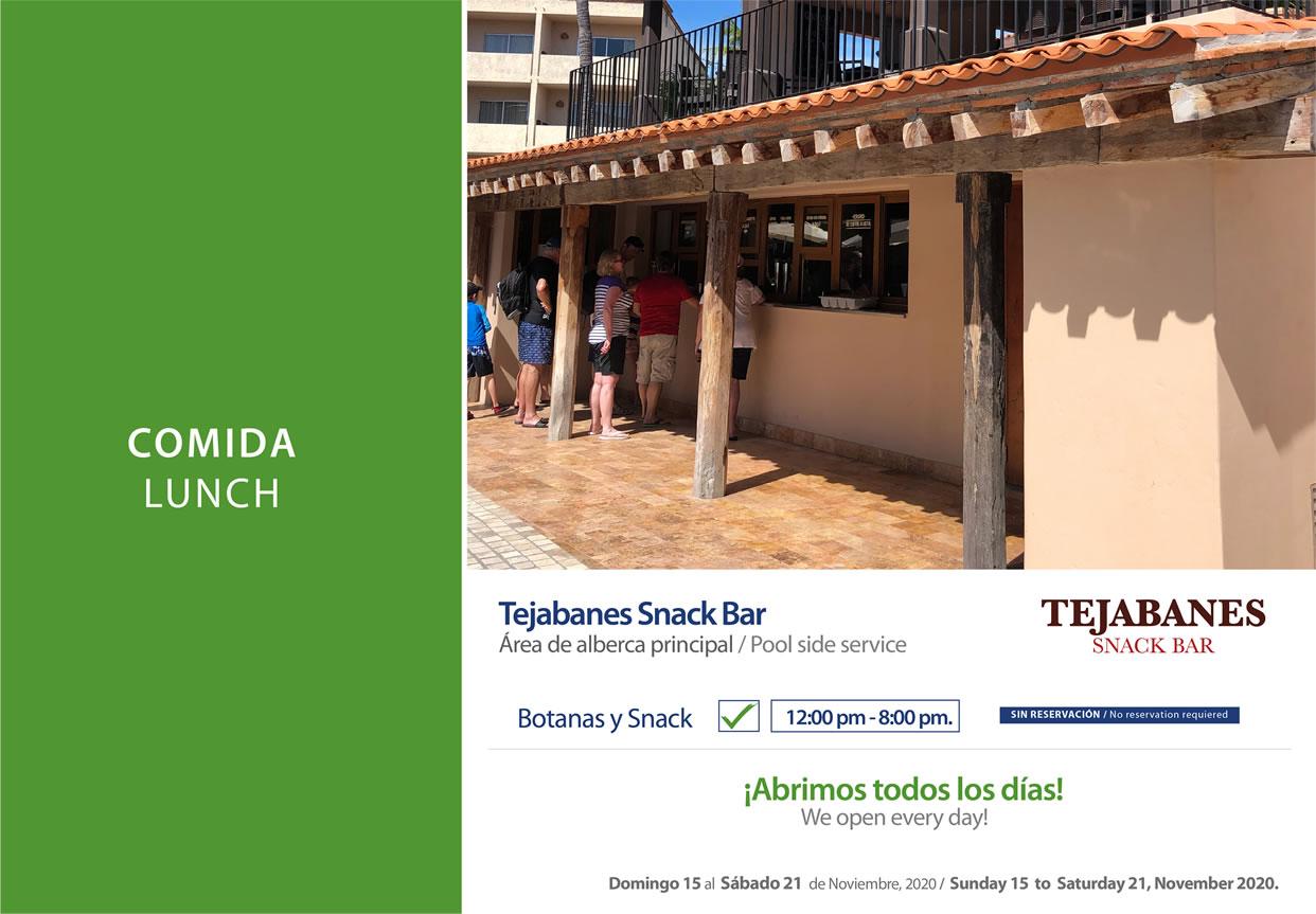 Snack Los Tejabanes November 15-21 2020