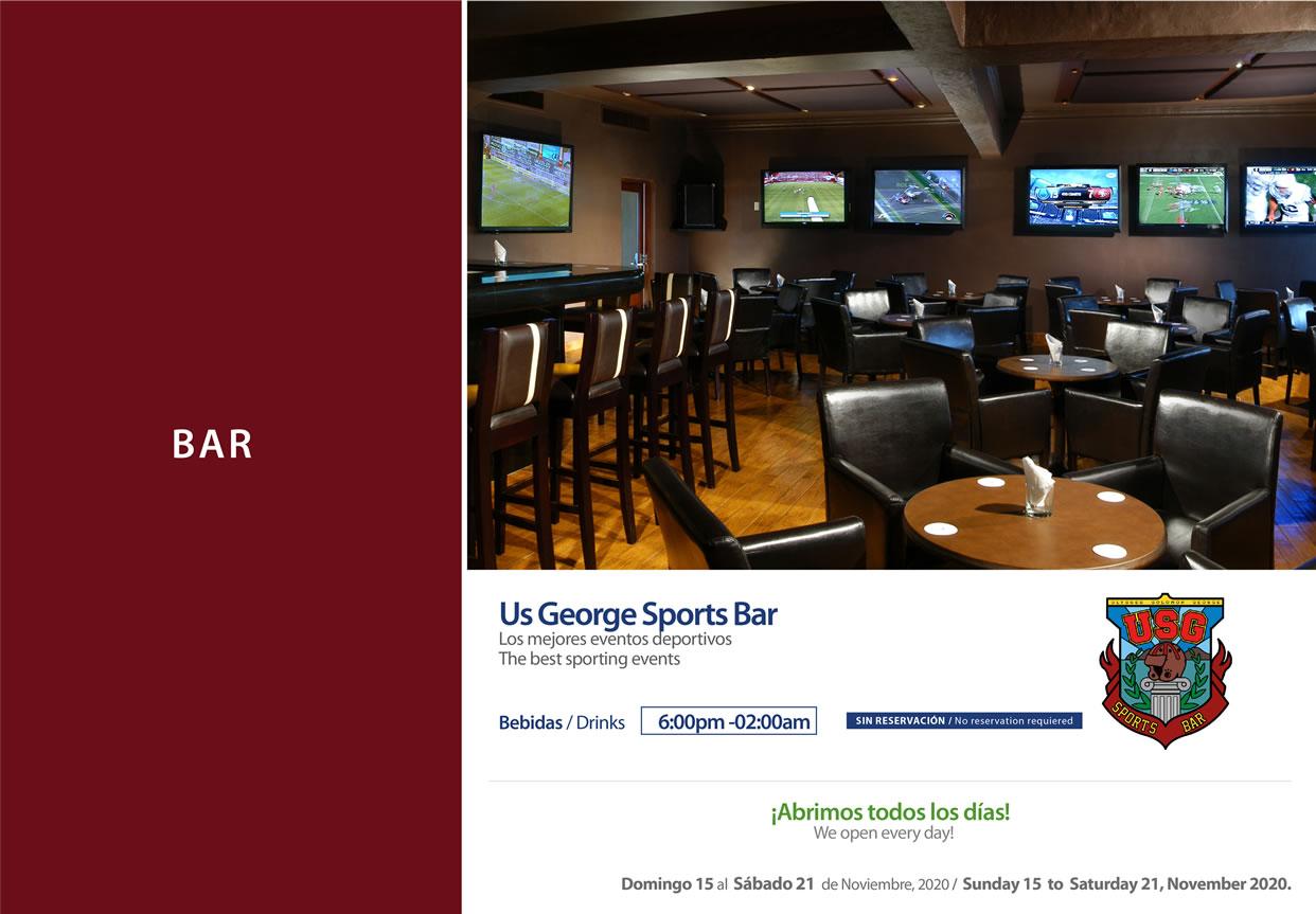 Usg sport bar Noviembre 15-21 del 2020