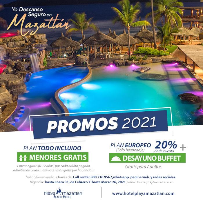 Promociones 2021 de Hotel Playa Mazatlán