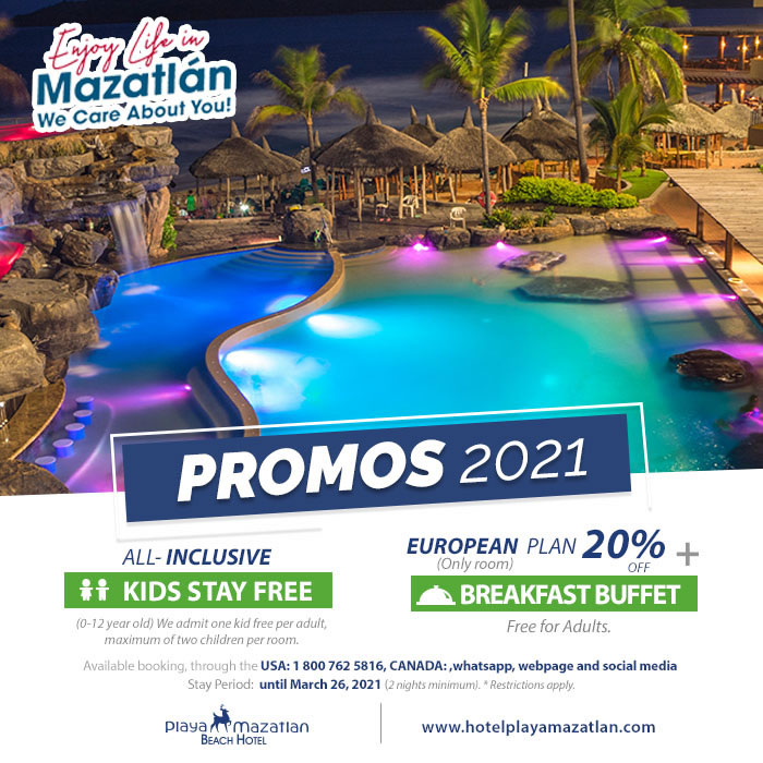 Specials 2021 Hotel Playa Mazatlan until March 26
