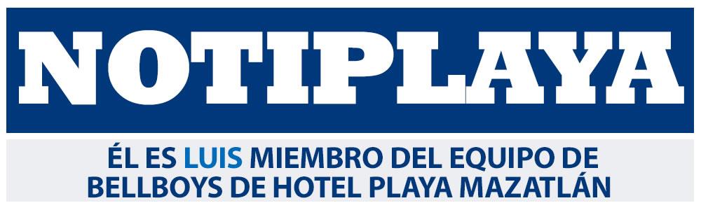 Él es Luis miembro del equipo de Bellboys de Hotel Playa Mazatlán