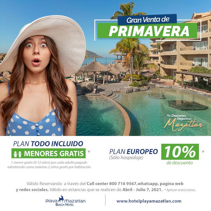 Aprovecha Venta de Primavera en Hotel Playa Mazatlán
