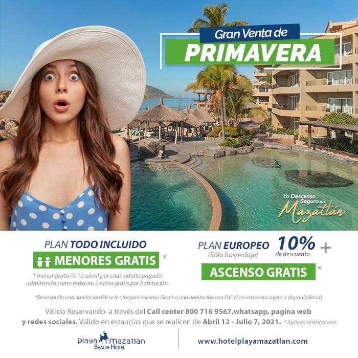 Menores y Ascenso Gratis en Hotel Playa Mazatlán