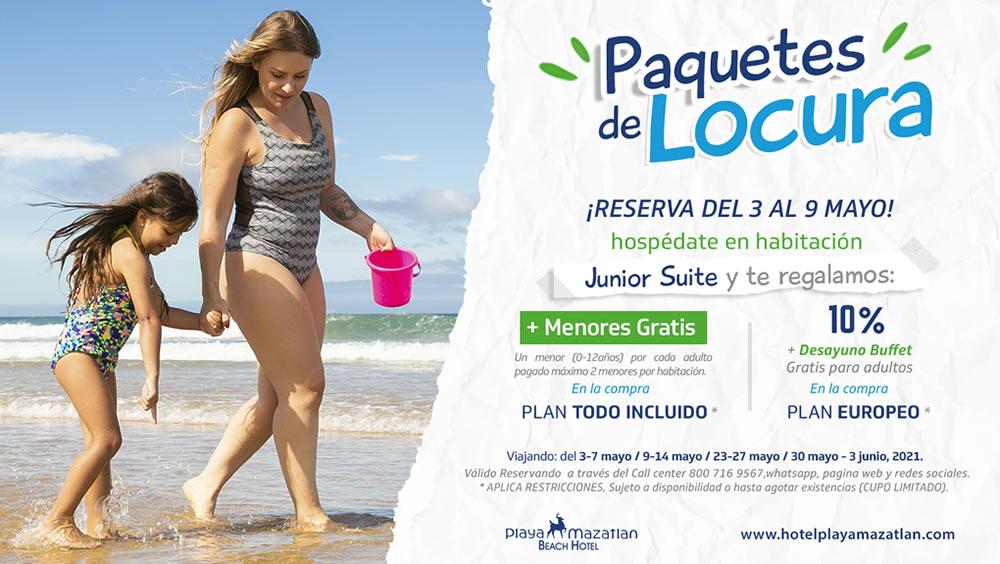 Paquetes de Locura Reservando Habitación Junior Suite Hotel Playa Mazatlán