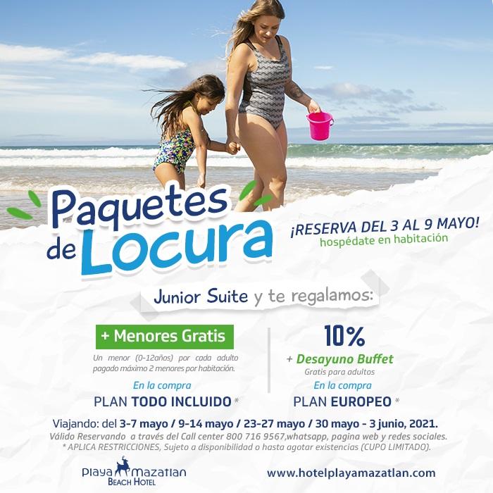 Promociones reservando Junior Suite en Hotel Playa Mazatlán