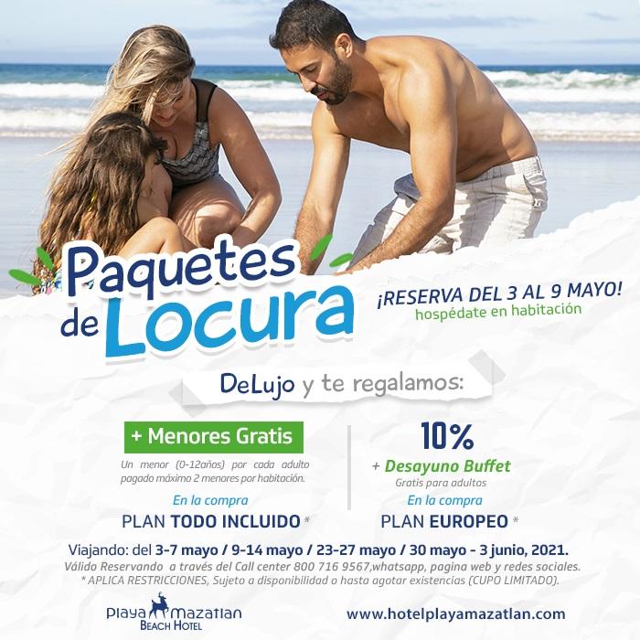 Promociones reservando habitaciones De Lujo en Hotel Playa Mazatlán