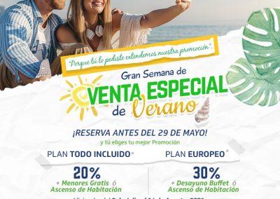 Venta Especial de Verano hasta Mayo 29