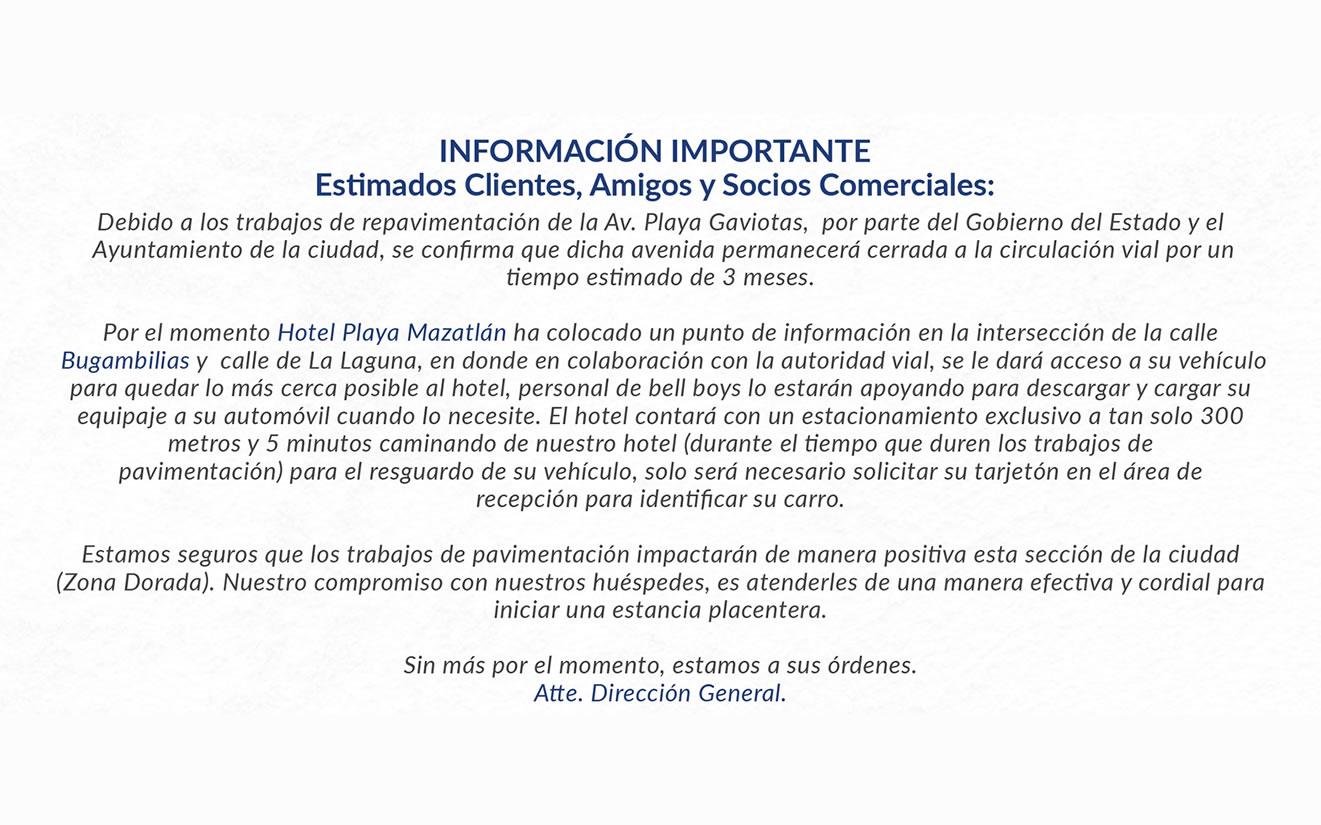 Repavimentación Av. Playa Gaviotas Mazatlán