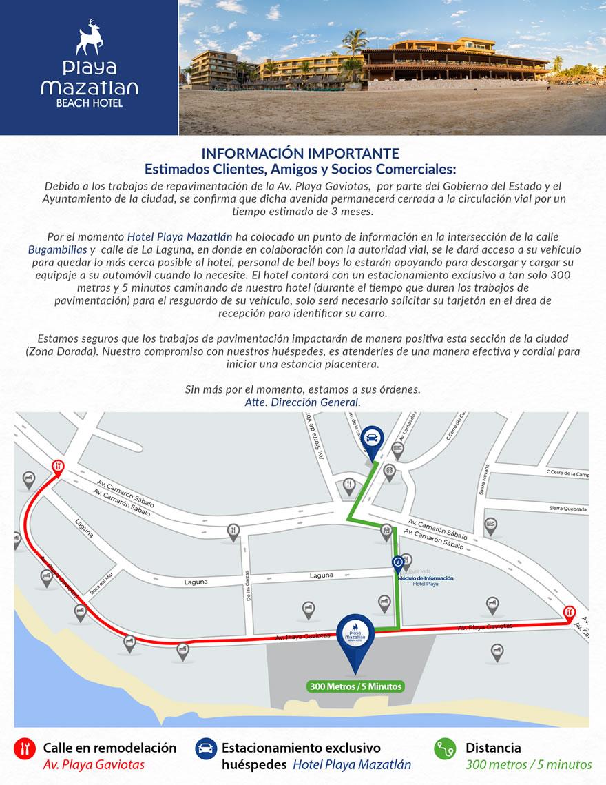 Repavimentación Avenida Playa Gaviotas Mazatlán
