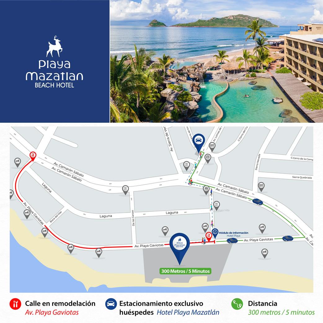 Croquis Remodelación Avenida Playa Gaviotas Hotel Playa Mazatlán