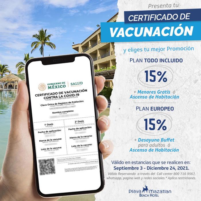 Aprovecha las promociones presentando tu certificado de vacunación COVID